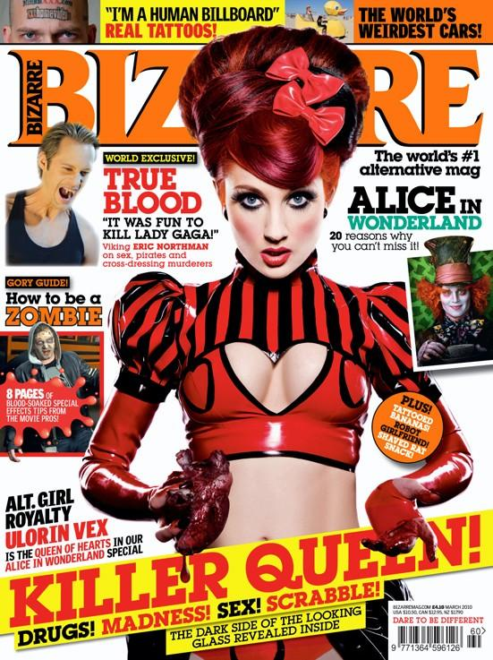 Bizarre Magazine Cover March 2010 featuring Ulorin Vex